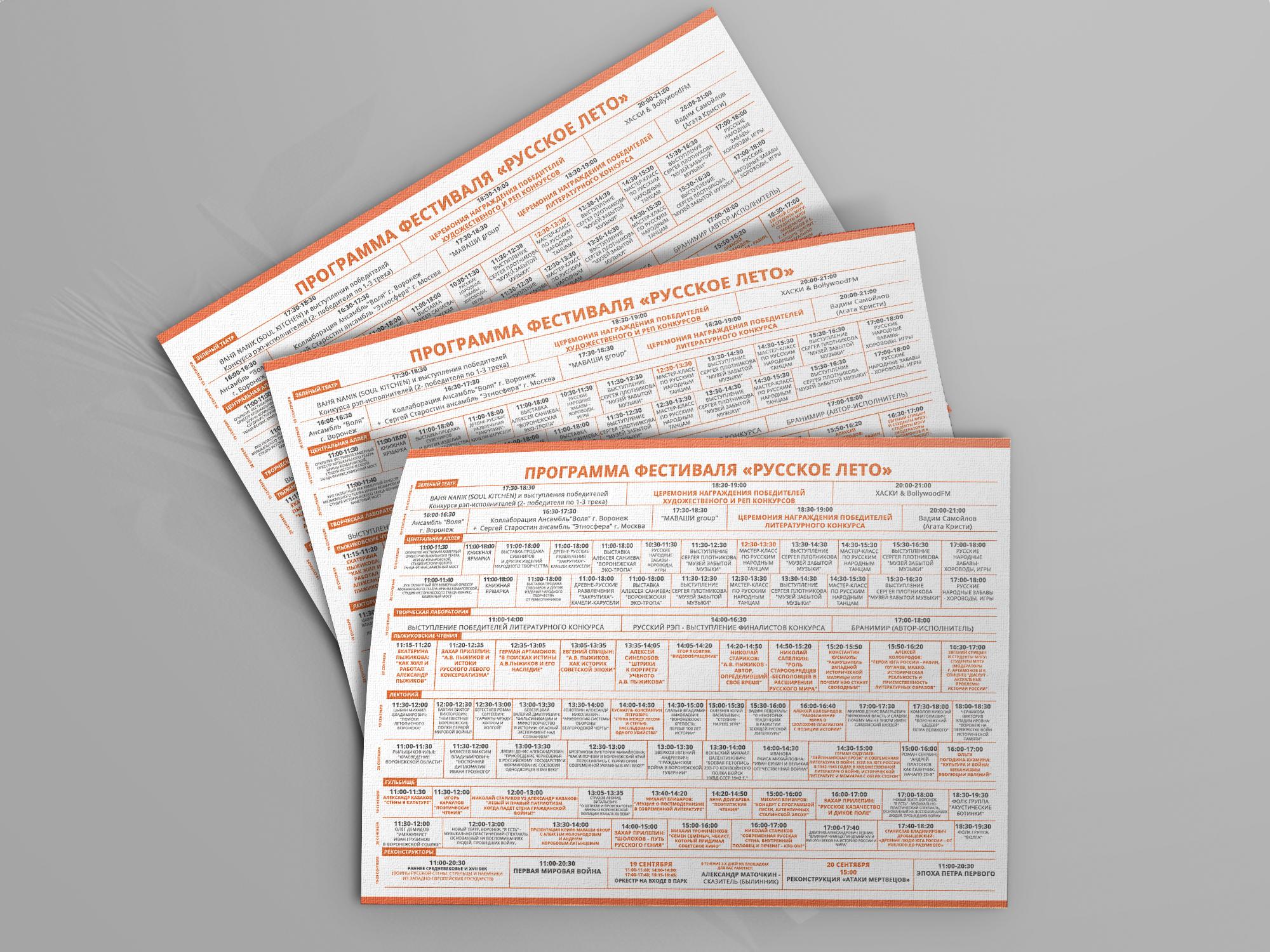 Дизайн-макет буклета (оборотная часть)